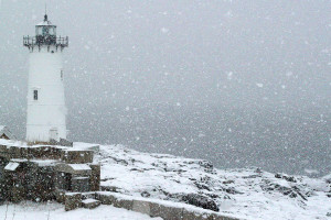 Portsmouth Lighthouse Snowfall