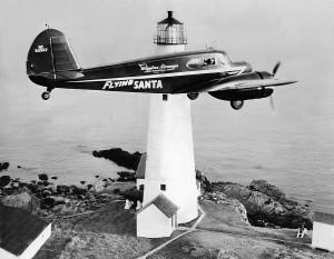 Snow flying over Boston Lighthouse (1947. Photo courtesy Jeremy D'Entremont for Dolly Snow Bicknell.