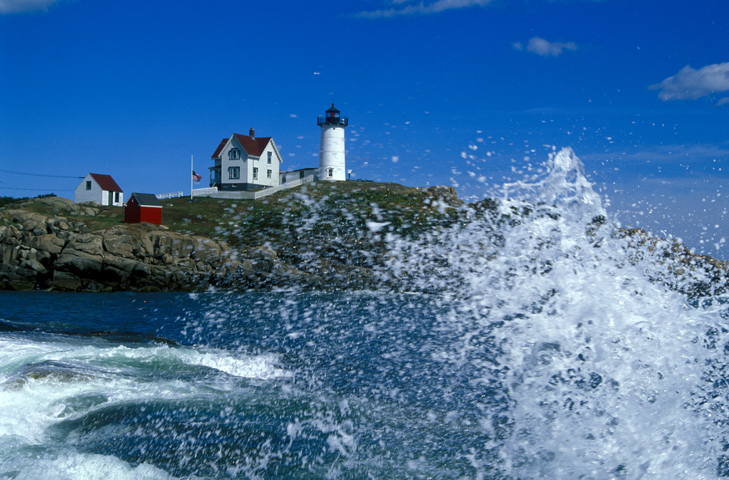 Nubble Lighthouse photographed a couple hours after 9-11