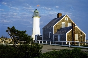 Scituate lighthouse and keeper's quarters, now a museum.