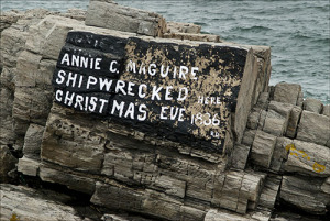 Inscription Annie Maguire Wreck 1886