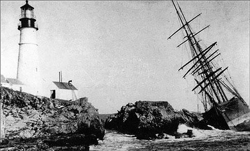 Annie C Maquire wreck courtesy Museum at Portland Head light