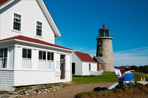 Monhegan Island Lighthouse is also an area for artists.
