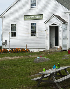 Monhegan Island still uses a one-room schoolhouse.