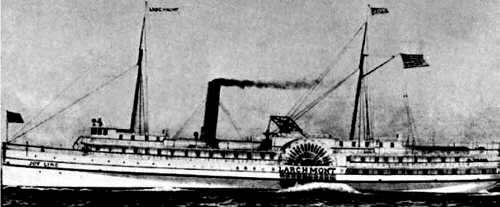 The Larchmont was the finest paddle-wheel steamer of her day