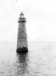 Vintage Image of Minot's Ledge Light, Courtesy of the US Coast Guard