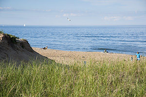 Beach at Plum Island in Newburyport, Massachusetts.