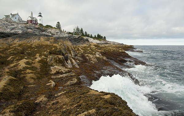 Pemaquid Point Lighthouse Over Rocky Shoreline