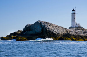 White Island (Isles of Shoals lighthouse in New Hampshire Seacoast.