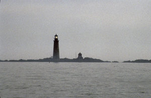 Graves light in fog