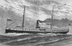 Steamer Metis engraving. Image courtesy of Quest Marine Services.