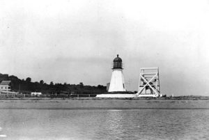 Vintage image Prudence Island light. Courtesy US Coast Guard