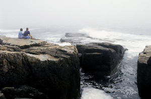 Schoodic Point with its rock formations.