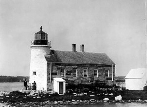 Vintage Image Built in 1850. Courtesy US Coast Guard.