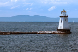 Burlington Breakwater North Lighthouse in Vermont