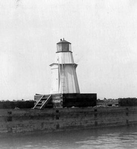 Vintage Image Burlington Breakwater North Light. Courtesy US Coast Guard.