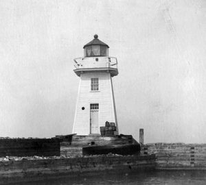 Vintage Image Burlington Breakwater South Light. Courtesy US Coast Guard.