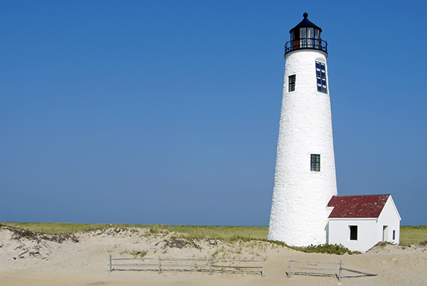 Great Point Lighthouse on Nantucket Island, Massachusetts.