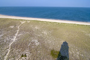 Great Point lighthouse shadow view from the tower