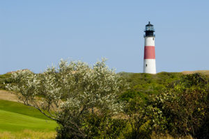 Sankaty Head lighthouse on Nantucket Island