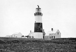 Vintage image Sankaty head lighthouse. Courtesy of US Coast Guard