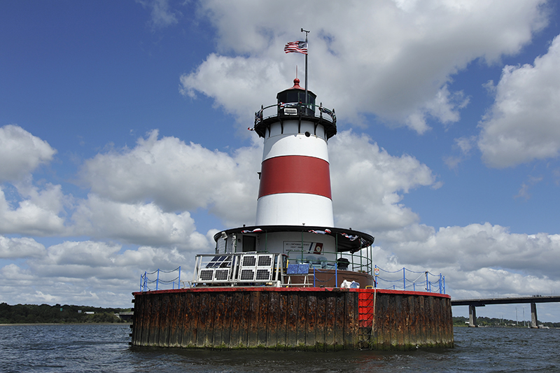 Borden Flats Lighthouse on Summer Day