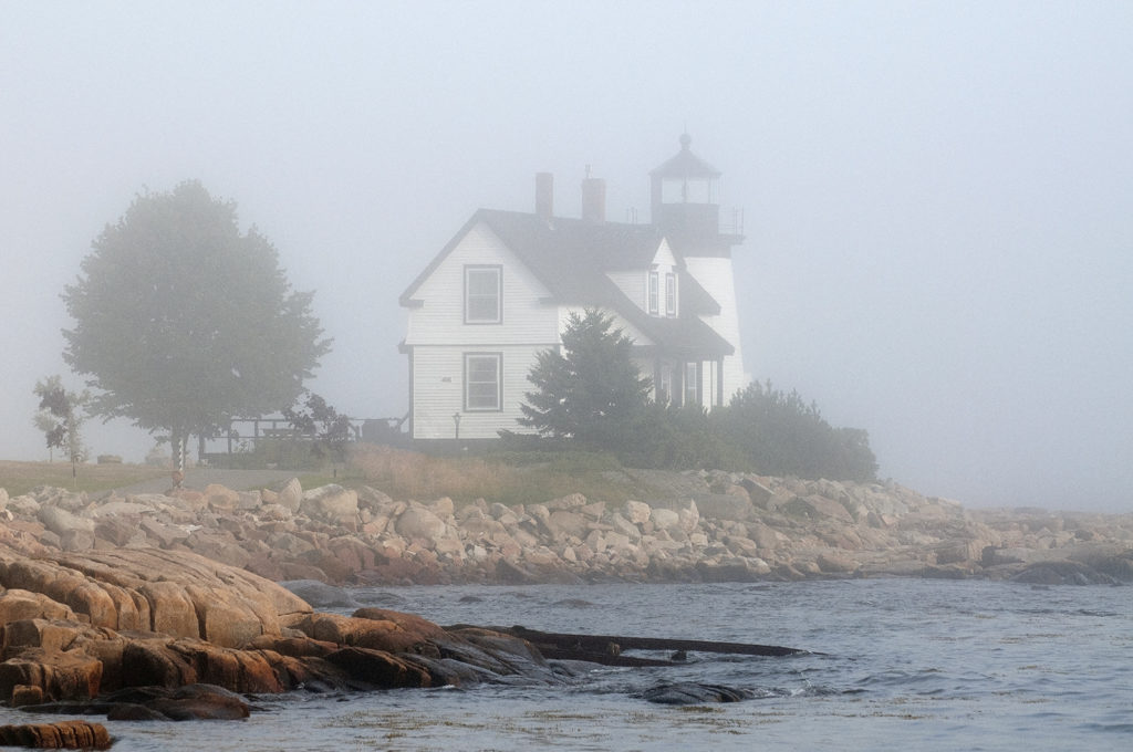 Prospect Harbor Lighthouse in Fog