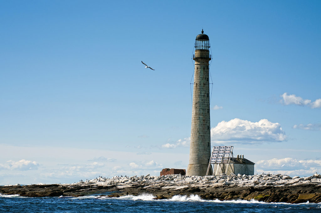 Boon Island lighthouse, the tallest beacon in New England.