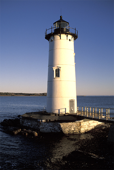 Sun Setting By Portsmouth Harbor Lighthouse in New England