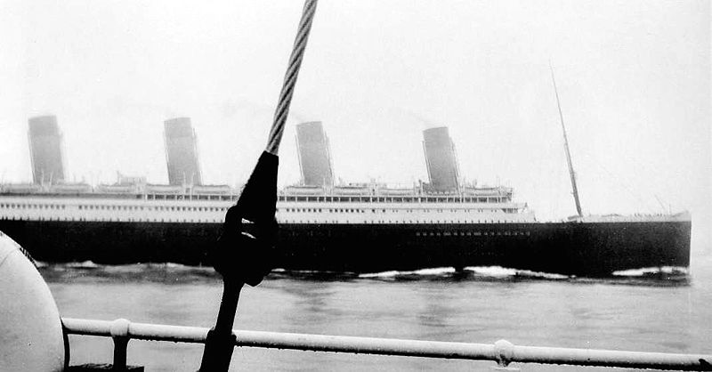 RMS Olympic passes by a few months before collision.