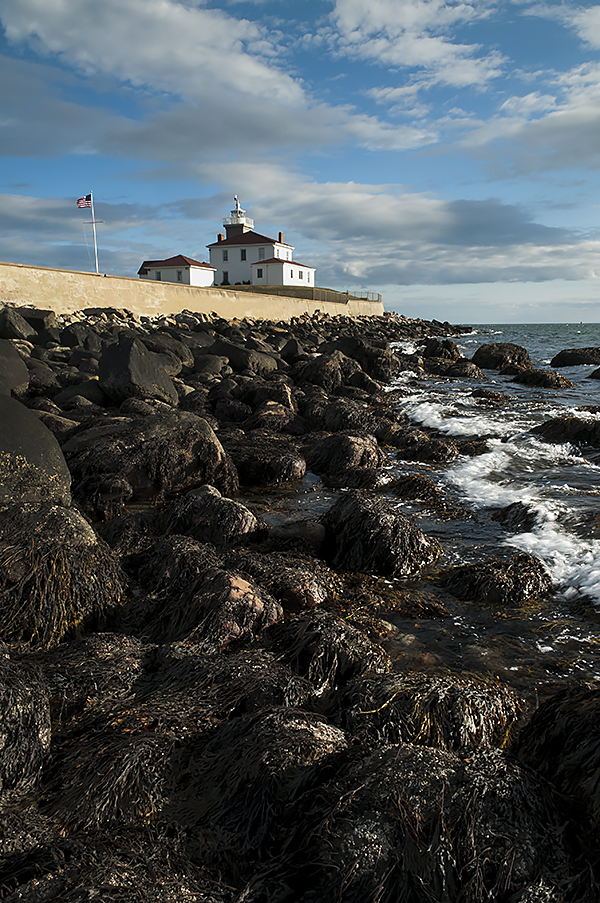 Watch Hill Lighthouse at Low tide