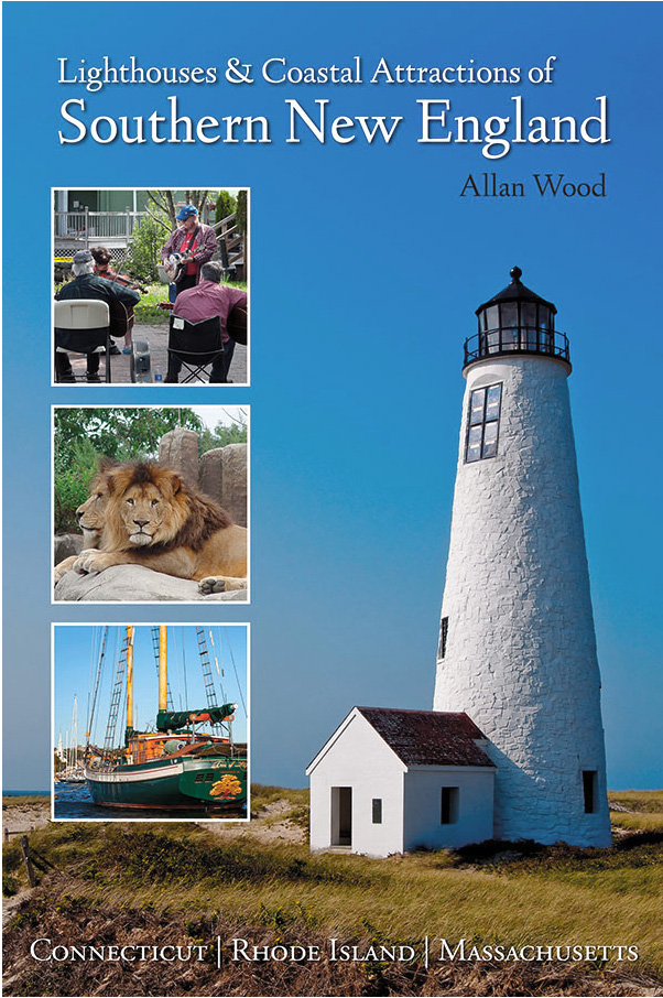 book about lighthouses and nearby attractions in southern New England