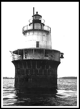 Lubec Channel Lighthouse In Downeast Maine - Discontinued lighthouse border